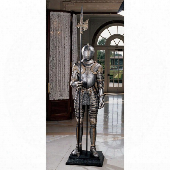 16th-century Italian Armor Sculpture With Halberd