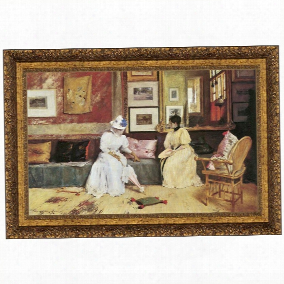 A Friendly Call, 1895, Canvas Replica Painting: Small