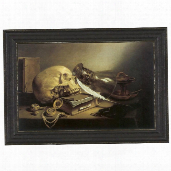 A Vanitas Still Life, 1645, Canvas Replica Painting: Grande