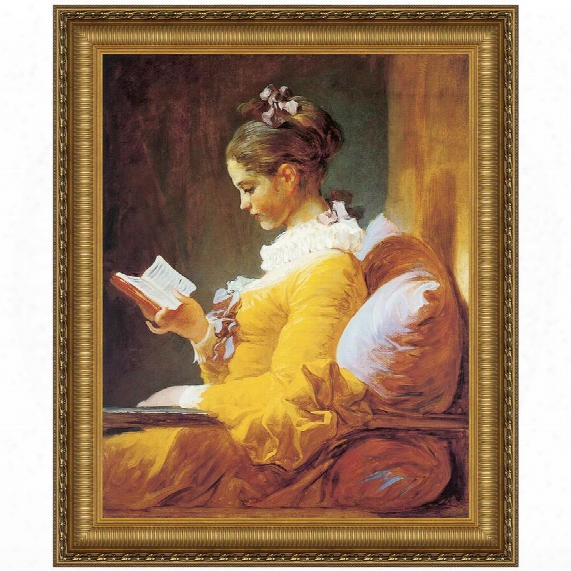 A Young Girl Reading, 1770-72 Canvas Replica Painting: Grande