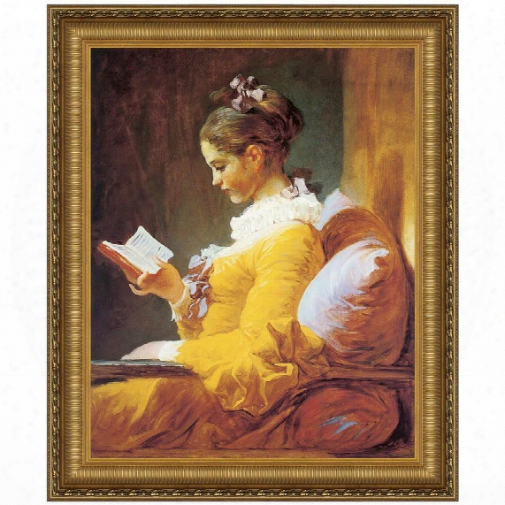 A Young Girl Reading, 1770-72 Canvas Replica Painting: Small