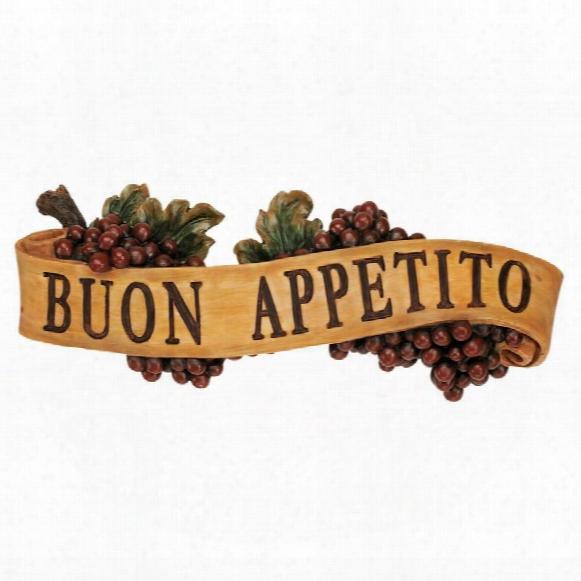 Abbondanza: Buon Appetito Sculptural Wall Plaque