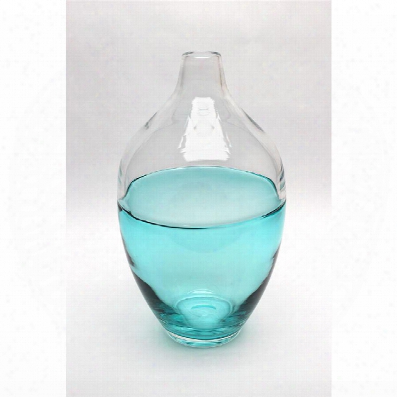 "Abey 13"" Hand-blown Glass Vase"