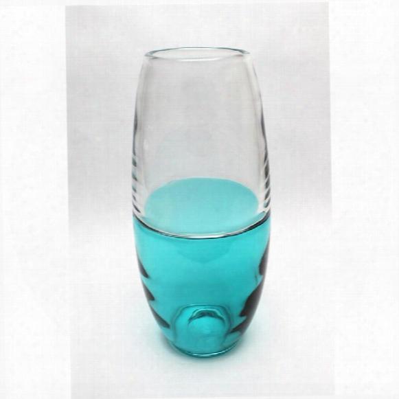 """Abey 14"""" Hand-blown Glass Vase"""