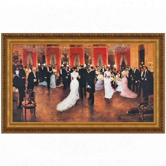 An Evening Soiree Canvas Replica Painting: Grande