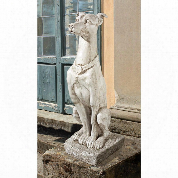 Art Deco Whippet Greyhound Sentinel Dog Statue