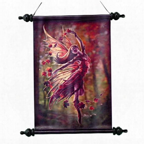 Autumn Fairy Canvas Wall Scroll By Artist Anne Stokes