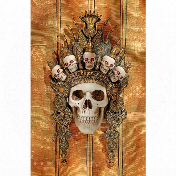 """Balinese God Of The After Life"""" Sculptural Skull Wall Mask"""