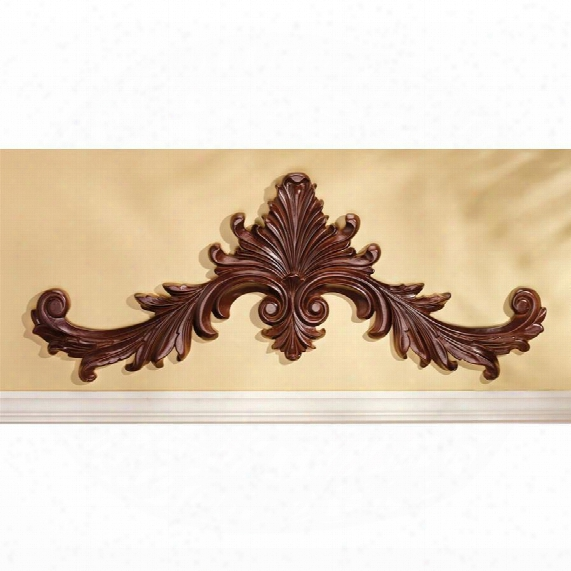 Baroque Architectural Wooden Wall Pediment