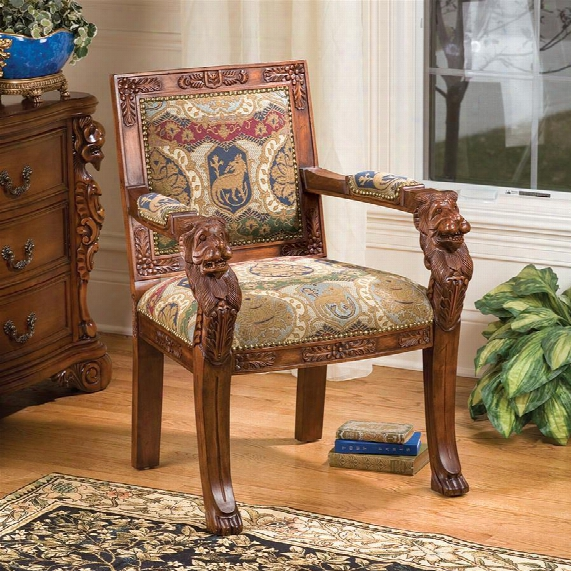 Beardsley Heraldic Lion Armchair