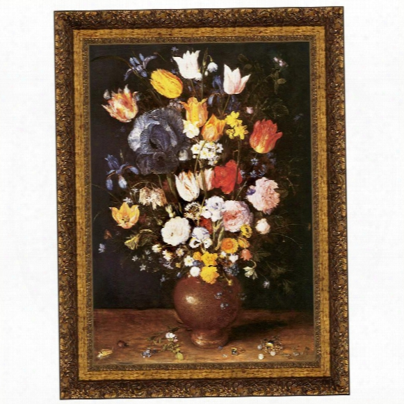 Bouquet Of Flowers, 1608, Canvas Replica Painting: Grande