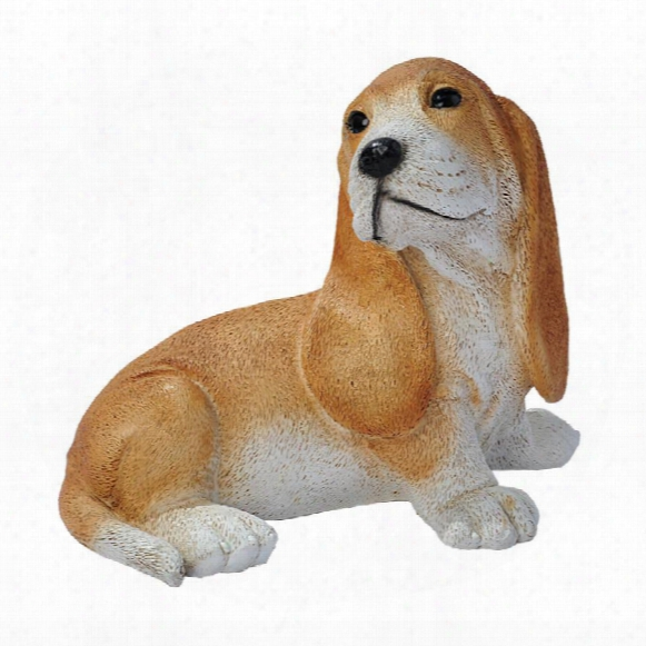 Brown Basset Puppy Dog Statue