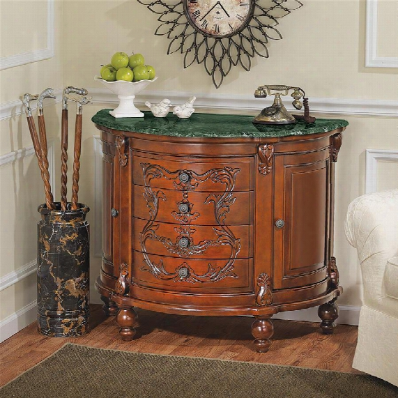Carbonne Crescent Solid Marble Top Console