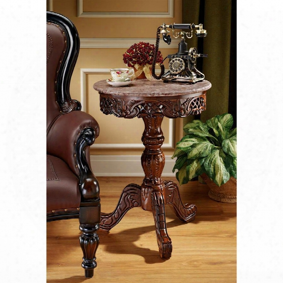 Chantret Marble-topped Pedestal Table