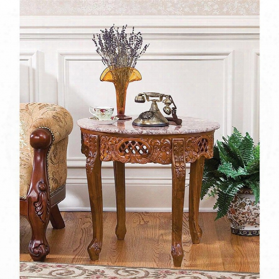 Chantret Marble-topped Side Table