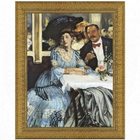 Chez Mouquin, A Bar At The Folies-bergere, 1905, Canvas Replica Painting: Small