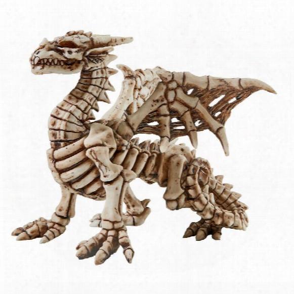 Corpus Crux Gothic Dragon Skeleton Statue