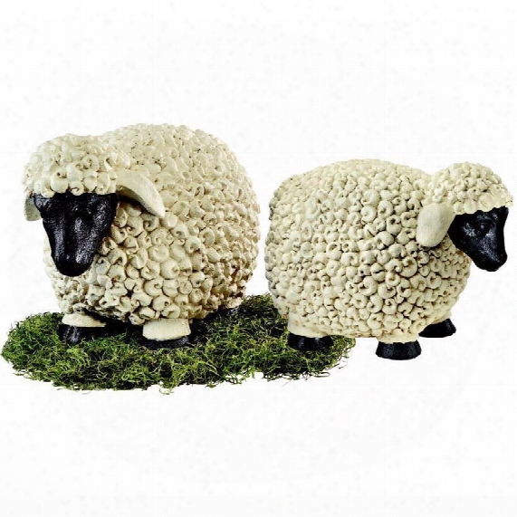 Counting Sheep Garden Statues Set: Medium & Large
