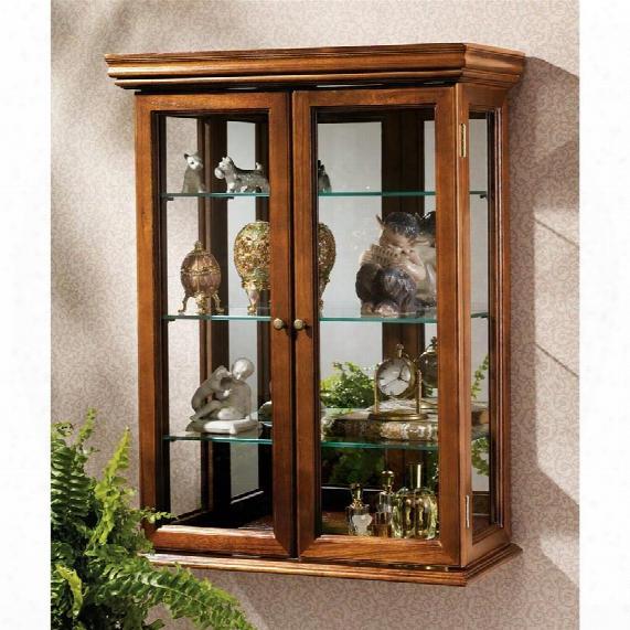 Coun Try Tuscan Hardwood Wall Curio Cabinet