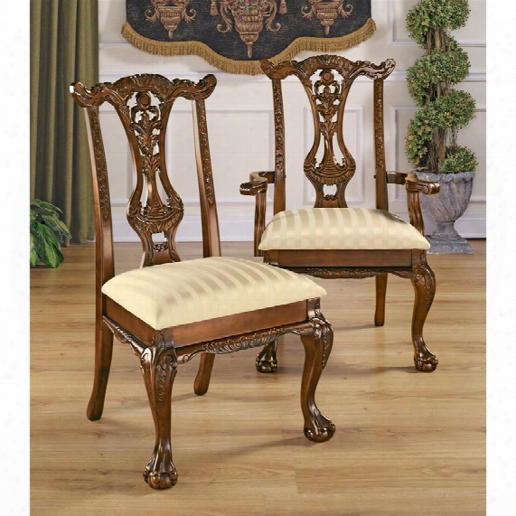 Cupid's Bow Chippendale Chairs: Set Of Six