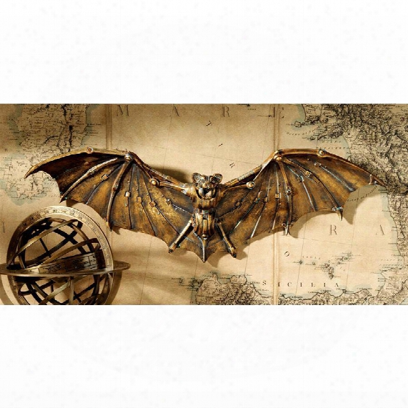 "Cyber Bat"" Steampunk Wall Sculpture"