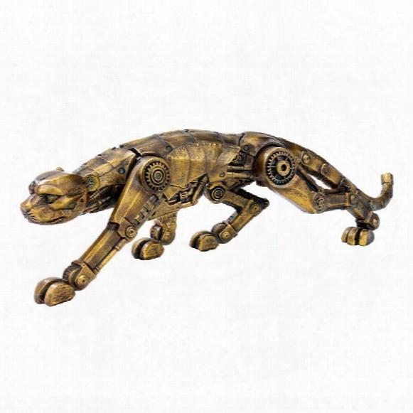 "Cyber Leopard"" Ste Ampunk Statue"