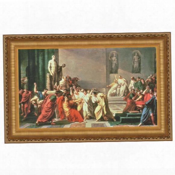 Death Of Julius Caesar Canvas Replica Painting: Grande