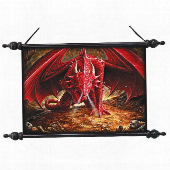Dragons Lair Canvas Wall Scroll By Artist Anne Stokes
