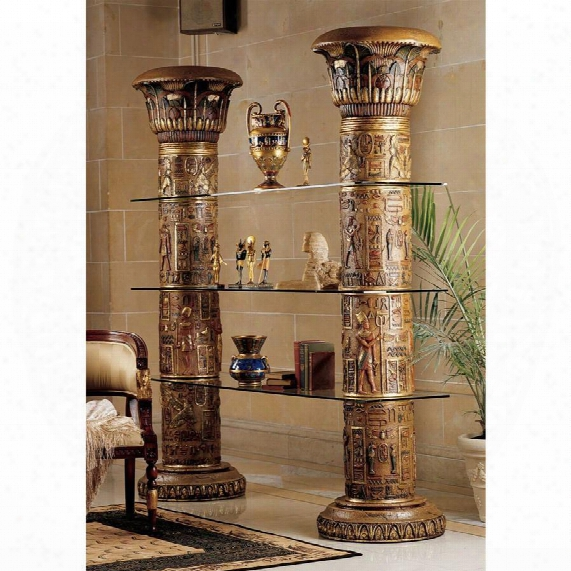 Egyptian Columns Of Luxor Shelves