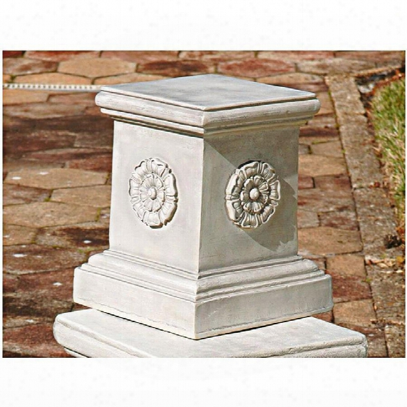 English Rosette Garden Sculptural Plinth: Large