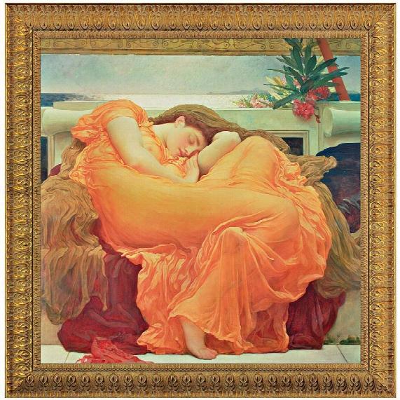 Flaming June, 1895, Canvas Replica Painting: Grande