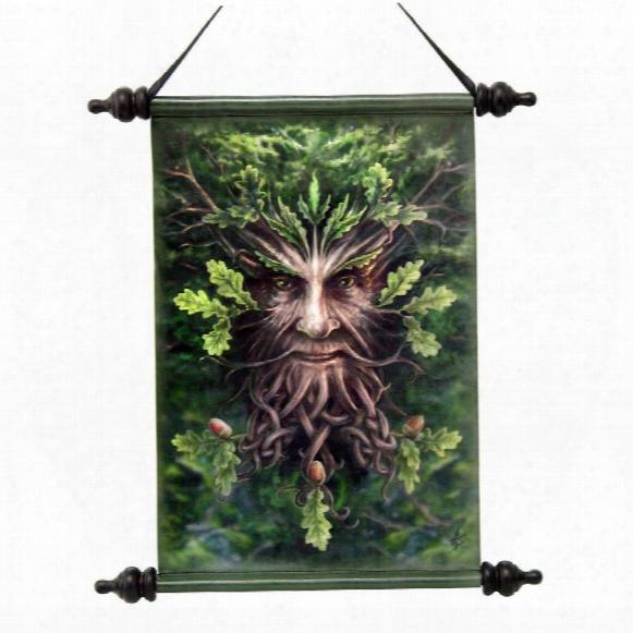 Forest Greenman Ent Canvas Wall Scroll