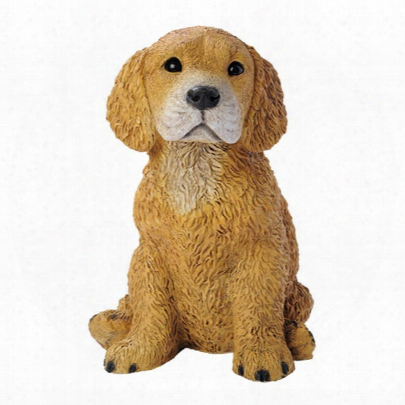 Golden Retriever Puppy Dog Statue
