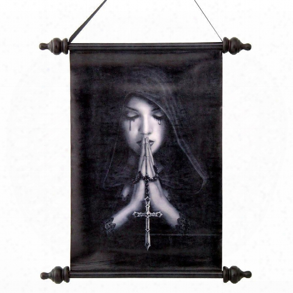 Gothic Prayer Canvas Wall Scroll
