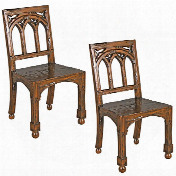 Gothic Revival Rectory Chairs Set Of Two