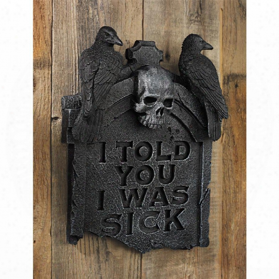 Gothic Tombstone Wall Sculpture