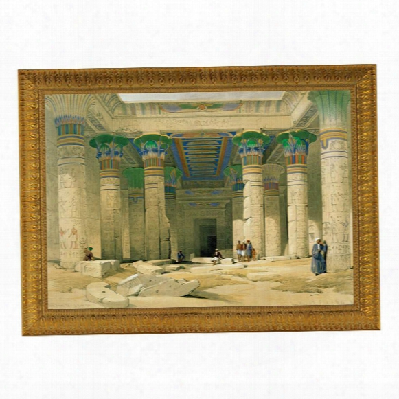 Grand Portico Of The Temple Of Philae Canvas Replica Painting: Grande
