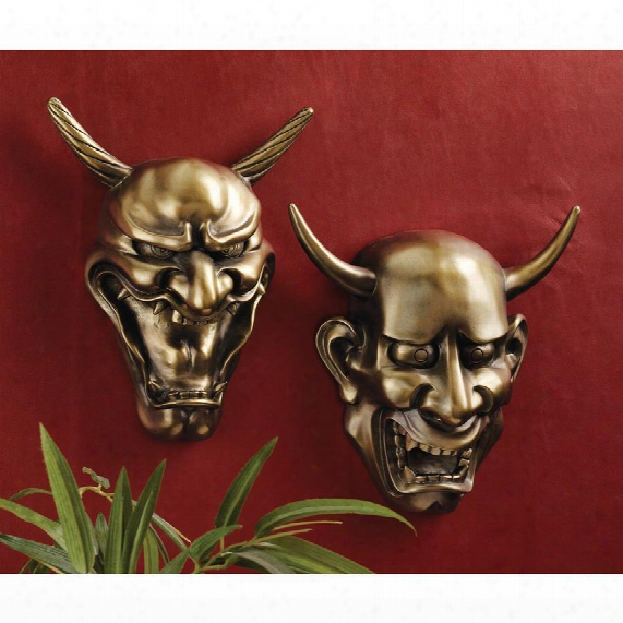 Hannya Demon Mask Wall Sculptures