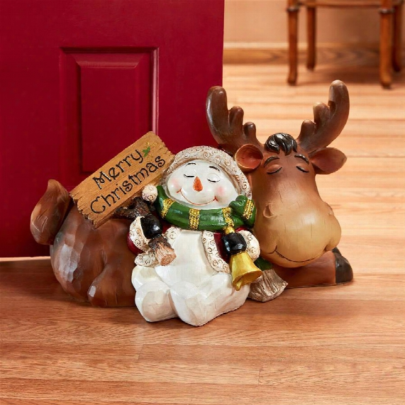 Holiday Snowman's Slumber Statue