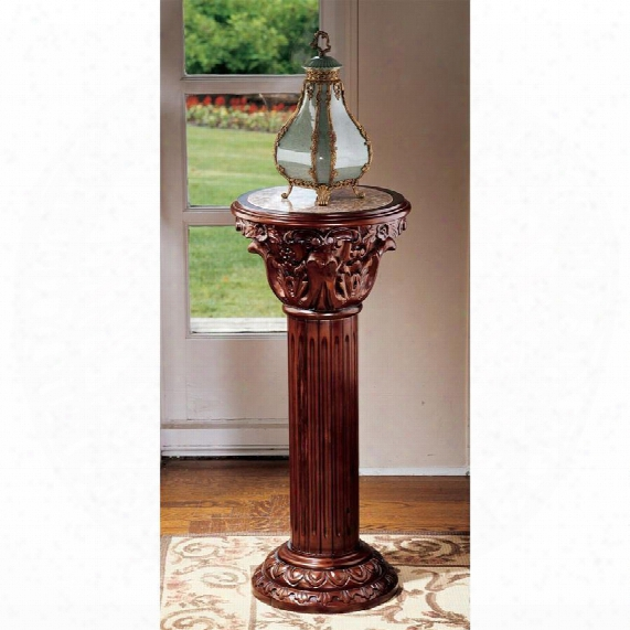 Imperia Marble-inlaid Column: Large