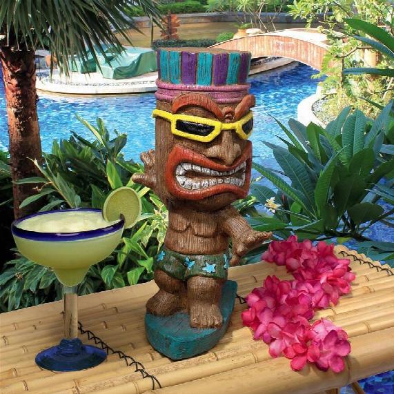 Kahuna Tiki Surfer Dude Statue