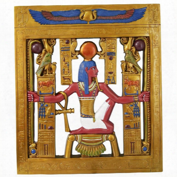 King Tut Cartouche Egyptian Sculptural Wall Frieze