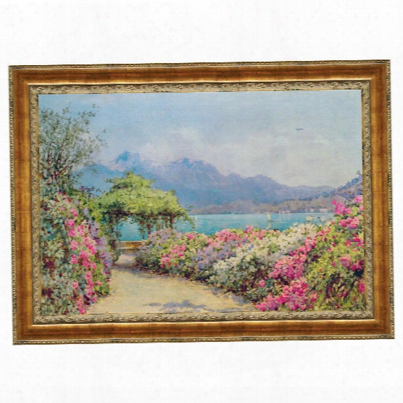 Lake Como From The Villa Canvas Replica Painting: Small
