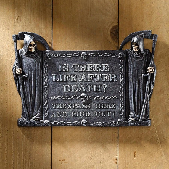 Life After Death: No Trespassing Wall Sculpture