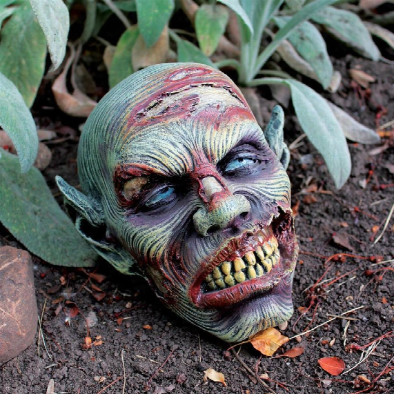 Lost Zombie Head Statue By Artist Liam Manchester