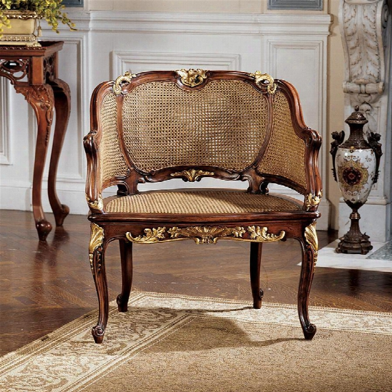 Louis Xv French Rattan Chair