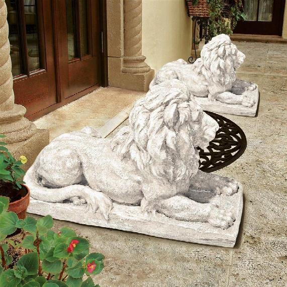 """Lyndhurst Manor Lion Sentinel"""" Statue"""