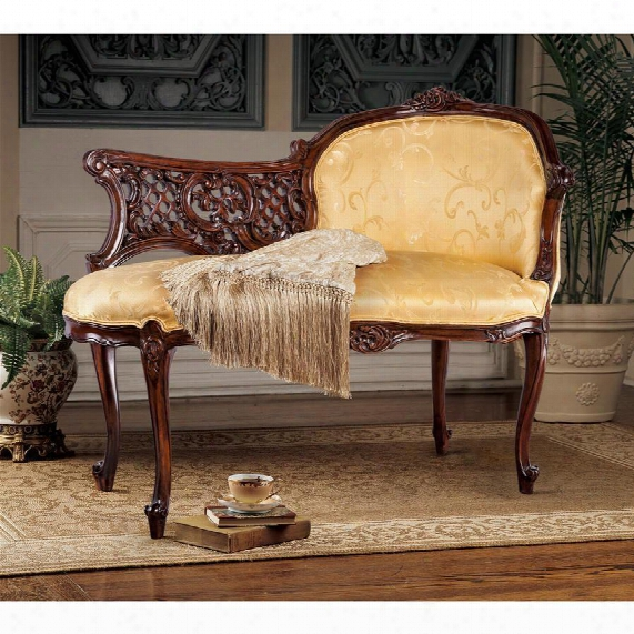 Madame Claudine's Mahogany Chaise Lounge