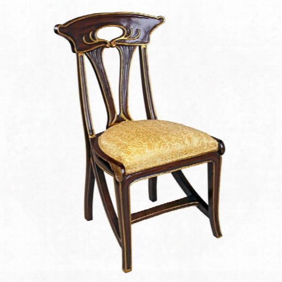 Majorelle Golden Art Nouveau Side Chair