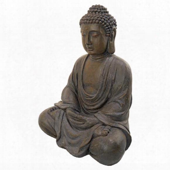 Meditative Buddha Of The Grand Temple: Dark Stone, Medium
